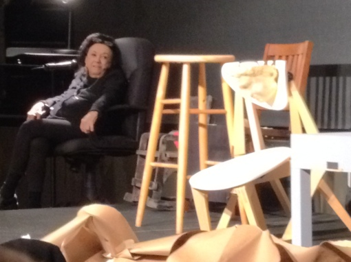 Judith Malina after the performance of The Chairs, a work-in-progress presented at The Whitney Museum of American Art